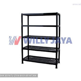 HOMMY - RAK SEPATU ZIVA 8001-S5 HITAM