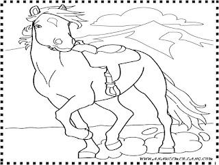 gambar mewarnai binatang kuda