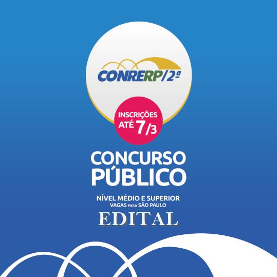 CONRERP-2 / SP abre inscrição do concurso público: Edital