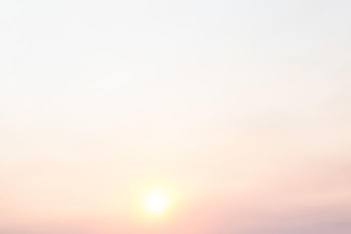 sun setting in sky