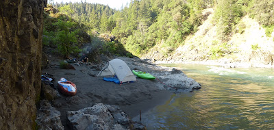Kayak camping on Mendocino's Eel River