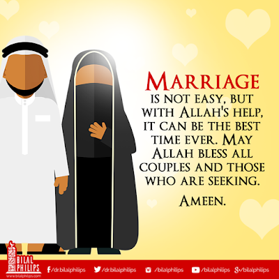 Blessed marriage is both husband and wife should love Allah and his beloved Prophet Muhammad (pbuh) more than they love each other| Islamic Marriage Quotes by Ummat-e-Nabi.com