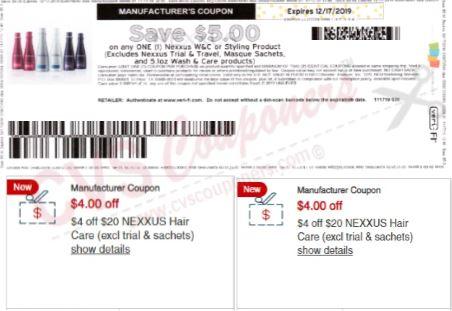 nexxus coupon cvs couponers