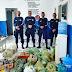 Guarda Municipal e Polícia Civil distribui alimentos arrecadados na campanha Natal sem Fome, em Adustina/BA