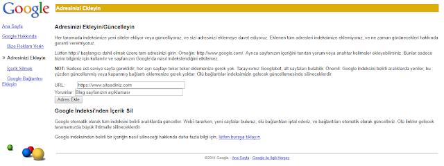 google-site-kayıt