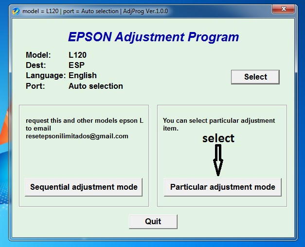 How to reset the Epson L120 printer manually and using a resetter ?