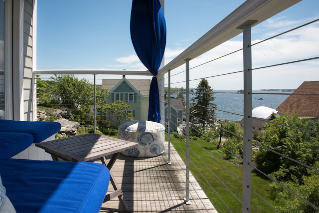 Deck View at The Topside Inn in Boothbay Harbor, Maine