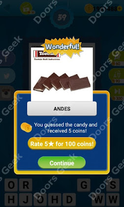 Answers, Cheats, Solutions for Guess the Candy Level 39 for android and iphone