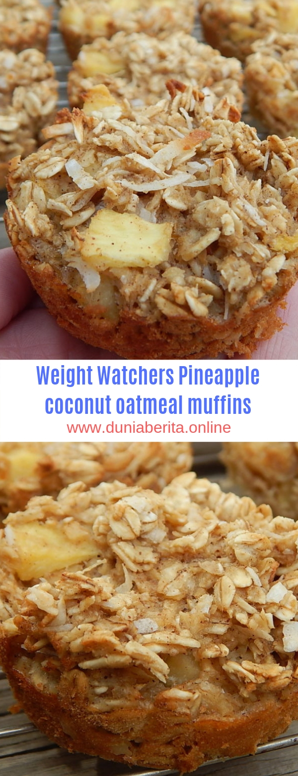 Weight Watchers Pineapple coconut oatmeal muffins