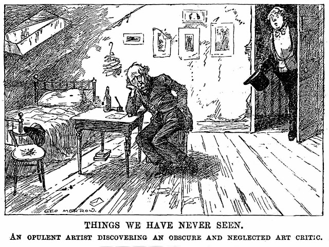 a 1911 George Morrow cartoon about artist and art critic