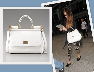 fbf8346d9f91 Dolce   Gabbana Miss Sicily Bag -  1695. Selena Gomez completed her look  with this bag at Heathrow Airport.