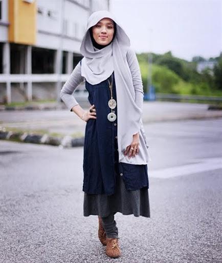 gaya model hijab simple casual terbaru 2017/2018