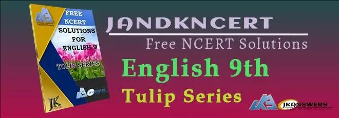 Book Cover Class 9th English - Tulip Series