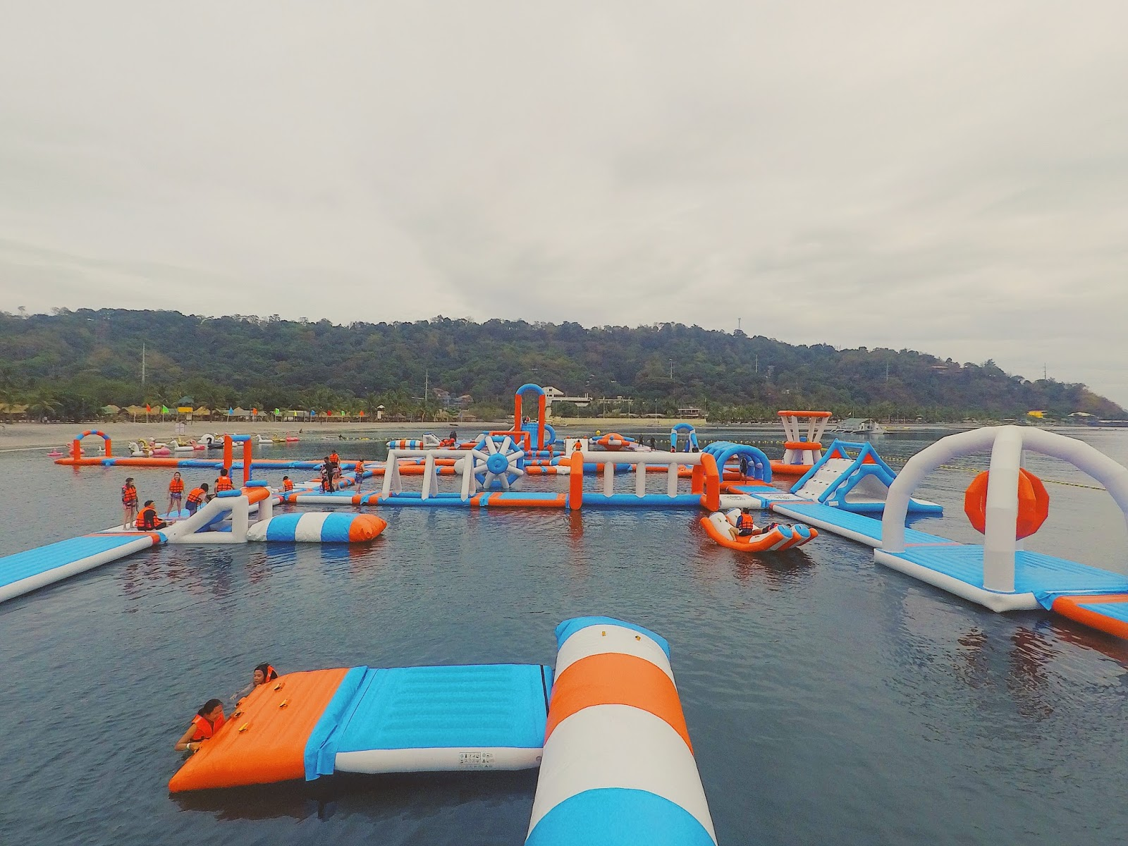 inflatable island obstacle course