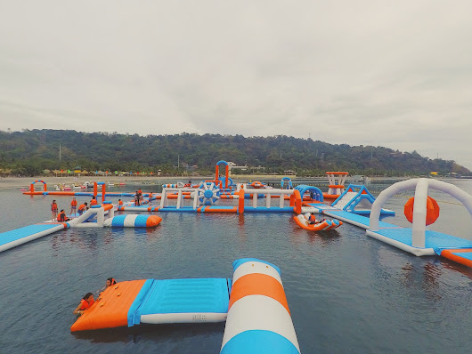 Fun at the Inflatable Island