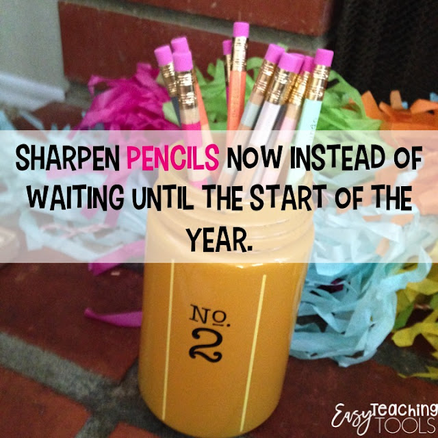 If you have any pencils leftover, sharpen them!  No, not you, have students or parents help you out with this one.