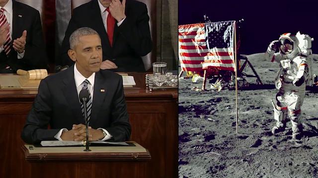 Barack Obama moon landing