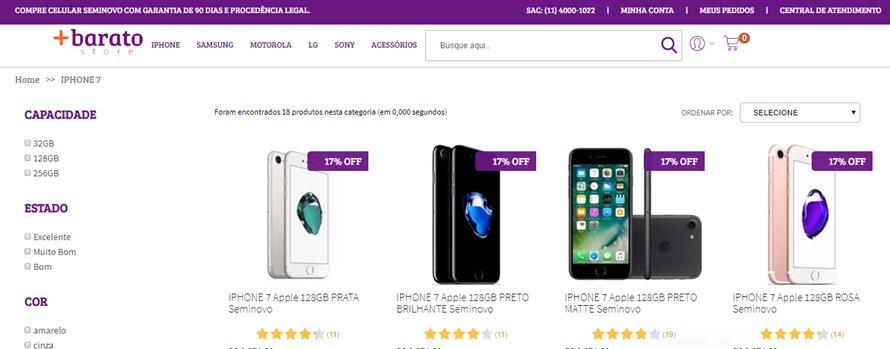 iPhone 7 mais barato