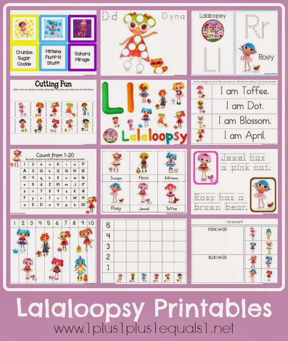 Lalaloopsy Free Printable Preschool Pack.