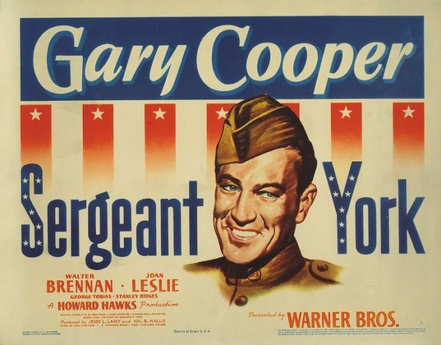 """Sergeant York"" poster, released on 2 July 1941 worldwartwo.filminspector.com"