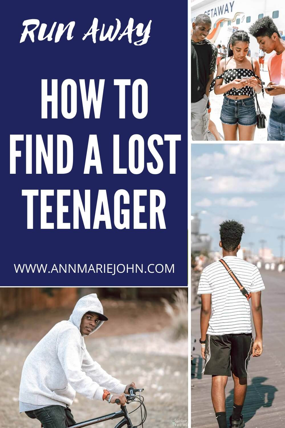 How to find a lost teenager pinterest image