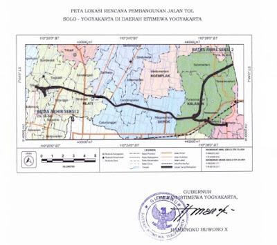 Gubernur Keluarkan SK Peta Lokasi Pembangunan Tol Yogya-Solo