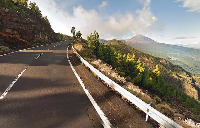 Tenerife road to Teide