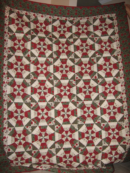 Scrappy Kaleidoscope Quilt designed by Kim Walus of Bitty Bits and Pieces