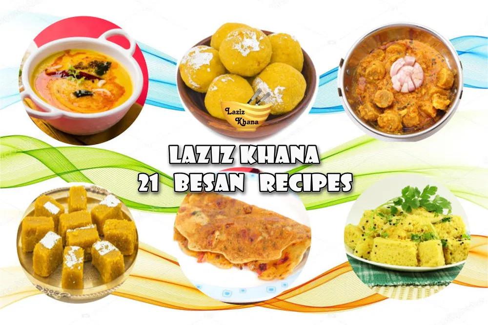 21 Besan Recipes in Hindi
