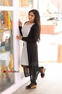 Telugu Actress Karunya Chowdary Stills in Black Dress at Soda Goli Soda Movie Opening  0116.JPG