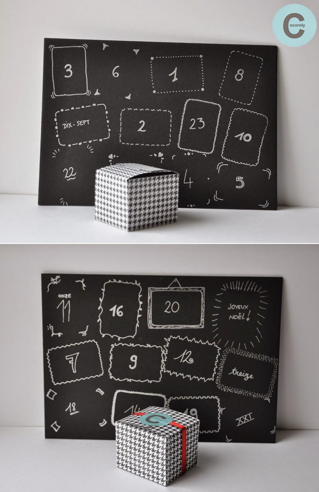 les f nt isies de cocorely calendrier de no l pour adulte. Black Bedroom Furniture Sets. Home Design Ideas
