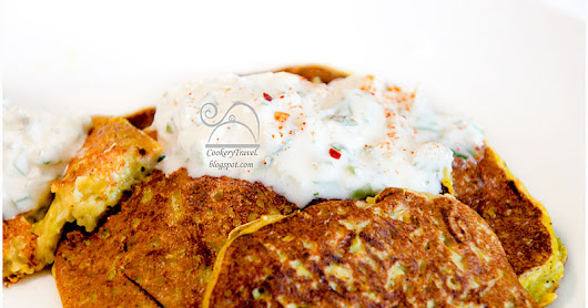 Zucchini Pancakes with Ginger and Nutmeg