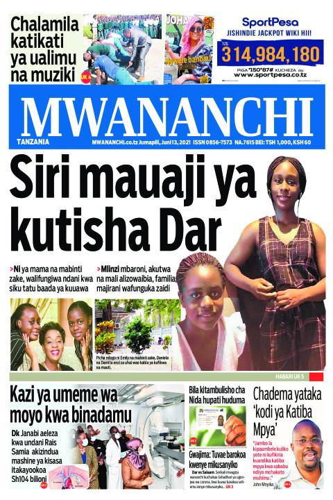 Habari kubwa za Magazeti ya Tanzania leo Juni 13,2021
