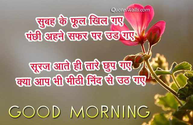 Merveilleux Good Morning Hindi Quotes Sms Wishes Pictures