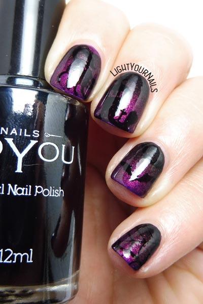 Halloween #nailstamping #nailart