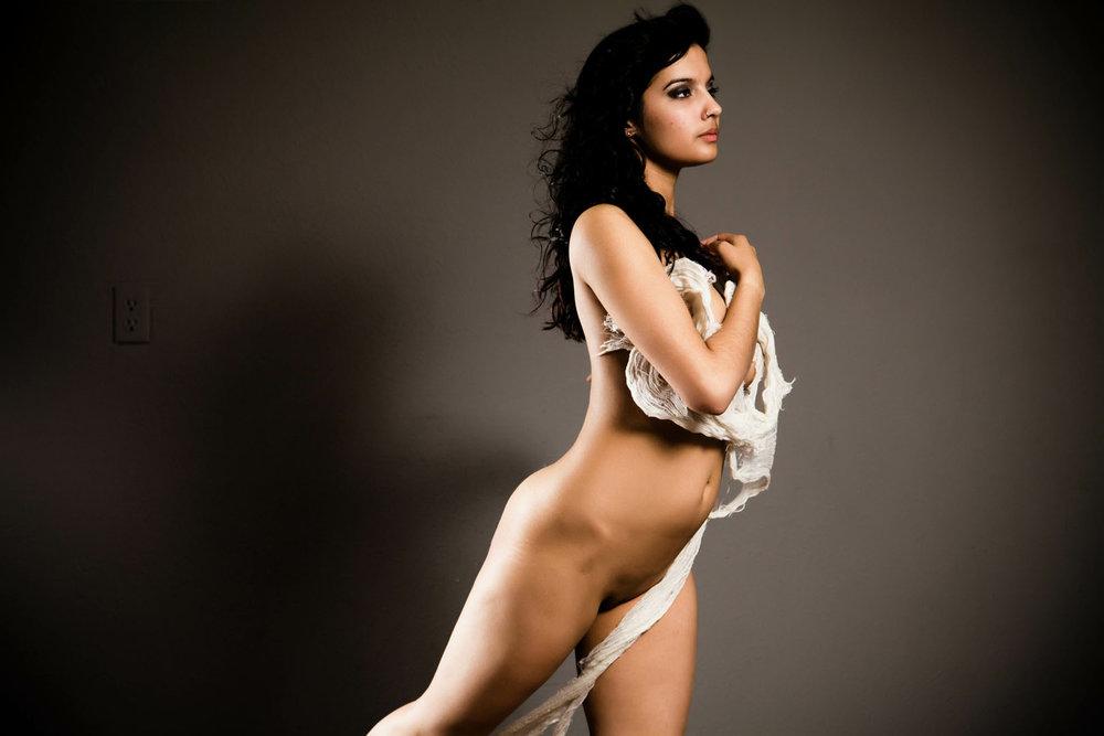 Artistic Indian Nude Beautiful Fashion Model Shanaya Naked -5892
