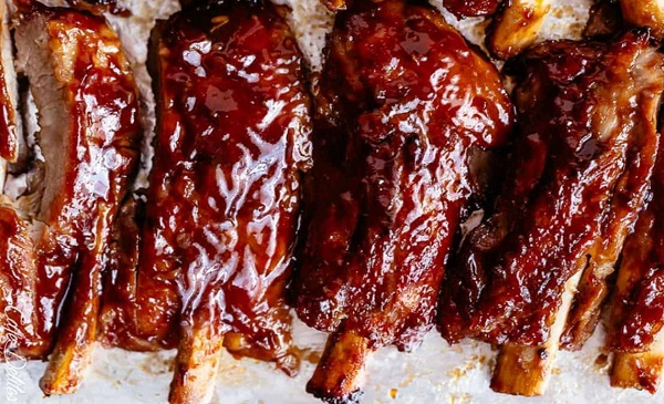 barbecue pork ribs in slow cooker