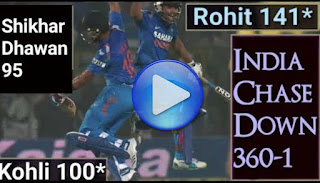 India chase 351 - India vs Australia 6th ODI 2013
