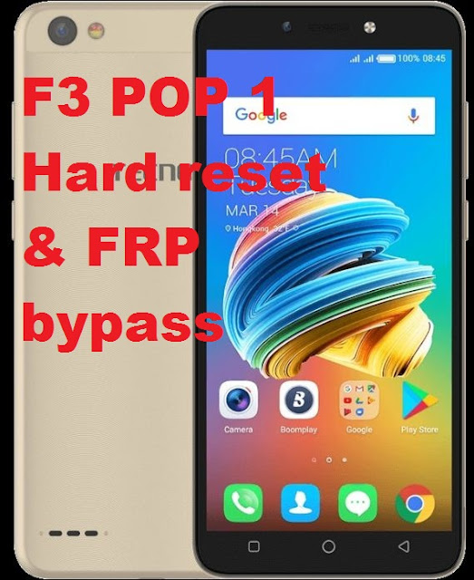 Tecno F3 POP1 hard reset. Pattern removal and frp bypass