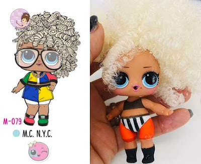 M.C. N.Y.C. doll from L.O.L. Surprise Hair Goals wave 2