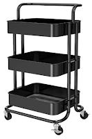 Pipishell 3 Tier Mesh Utility Cart