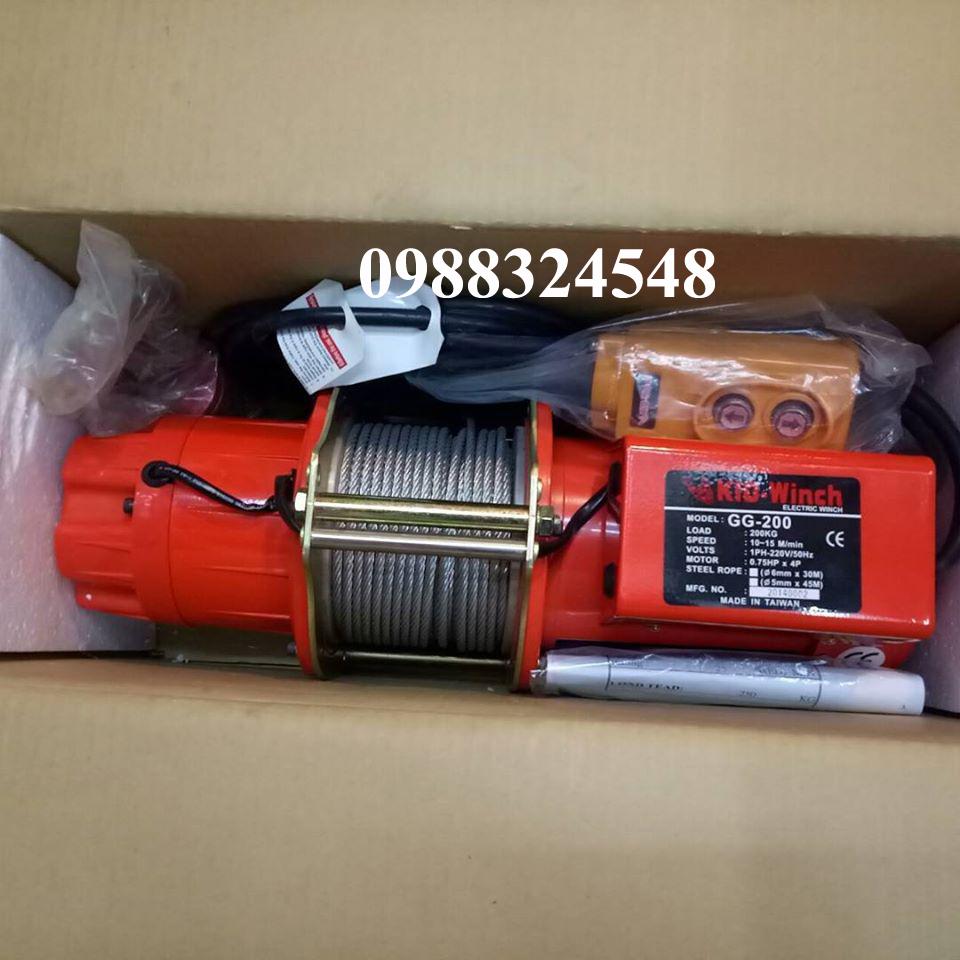 Tời cáp điện KIO GG-200 200kg