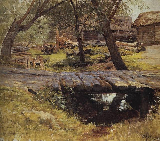 Исаак Ильич Левитан - Мостик. Саввинская слобода. 1884