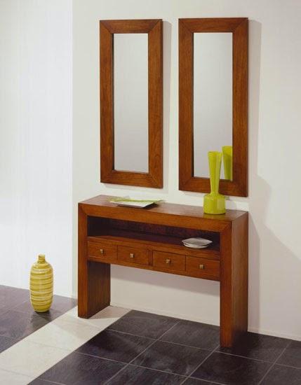 mueble recibidor colonial