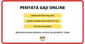 Semakan Slip E-pernyata Gaji Online 2020