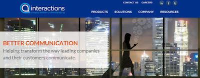 screen grab of Interactions website