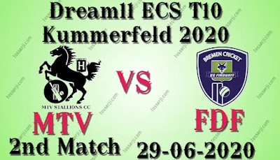 Who will win MTV vs FDF 2nd T10 Match