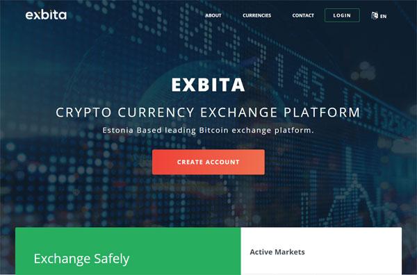 Exbita - Cryptocurrency Exchange Platform. Exchange, trade, buy, sell crypto