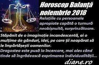 Horoscop Balanță noiembrie 2018