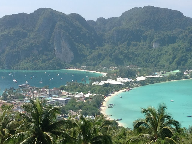 Viewpoint picture of Tonsai Village the main village of Koh Phi Phi